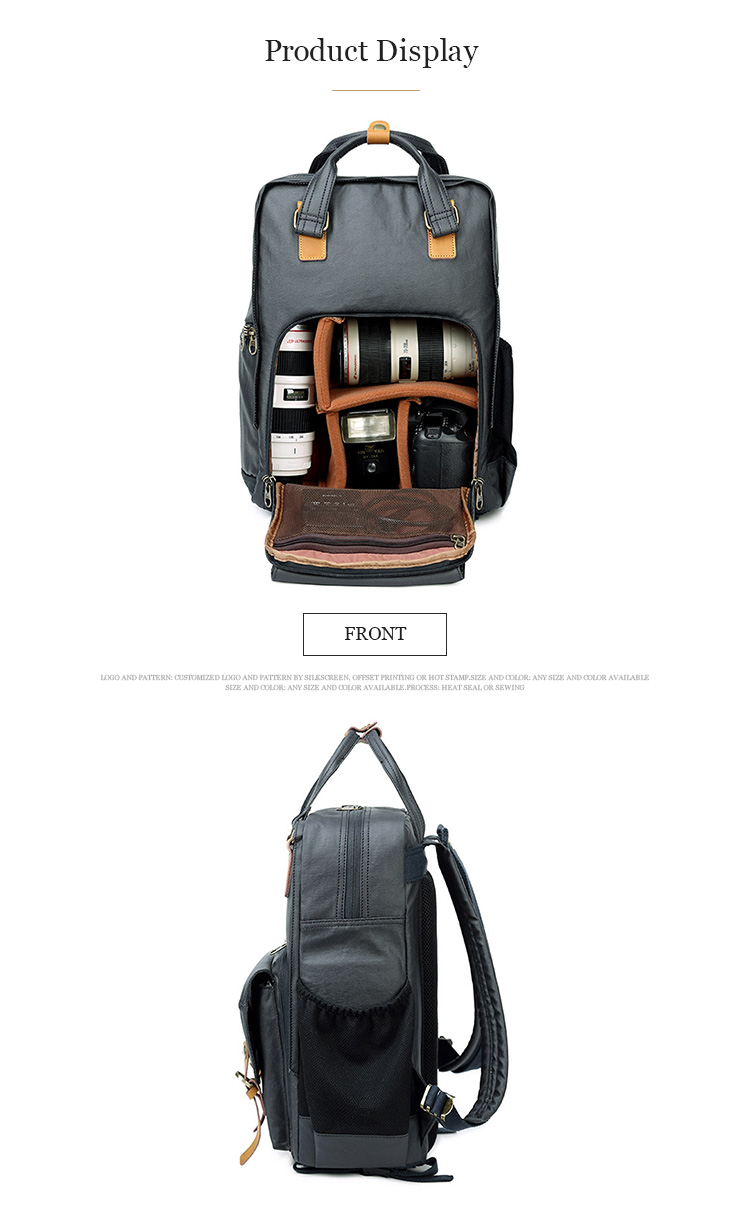 New product men bagpack leisure travel rucksack Europe style outdoor sport canvas camera backpack