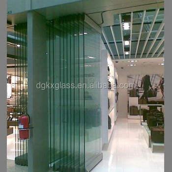 New Design Clear Tempered Glass Door Frameless Folding Glass Door /folding  Sliding Stacking Door