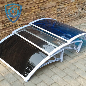 Aluminum awning material retractable side awning support for balcony