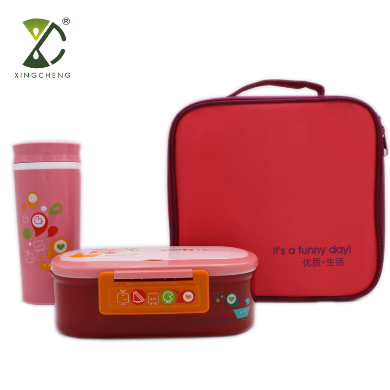 3 STKS Lunchbox Set Met Lekvrij Bento Lunchbox Geïsoleerde Carry Lunch Tas Waterfles voor Volwassenen En Kids