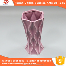 Wholesale purple cup types of ceramic flower vase