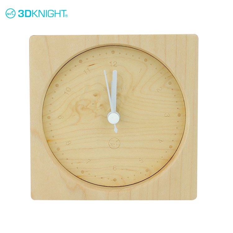 New arrivals 2017 personalized alarm clock wooden paypal payment