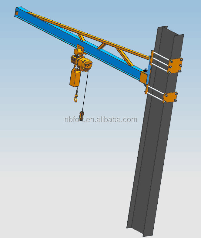 costruzione gru a bandiera da pilastro fatta in casa Workshop-Using-Jib-Crane-Design-Calculation