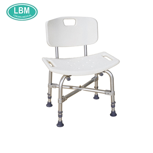 Disabled design aluminum plastic commode chair large shower chair/ bath seat china