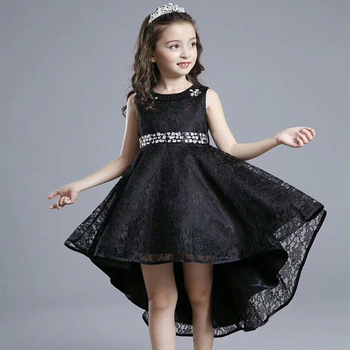 Black Lace Kids Girl Wedding Dresses Princess Buy Kids Wedding