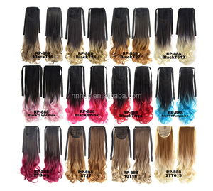 Ombre Hot selling synthetic hair drawstring ponytail for women wave