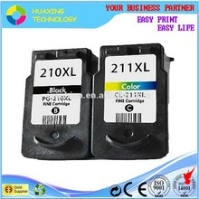 original quality compatible canon 210/ 211 ink cartridges for canon mp250 mp280 mx320 printer