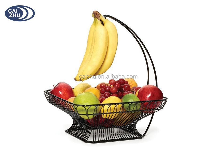 Steel Wire Fruit Vegetable Basket For Hanging Banana