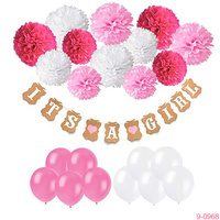 Babyshower Party Supplies Its A Girl Banner Baby Shower Balloon Decoration Set