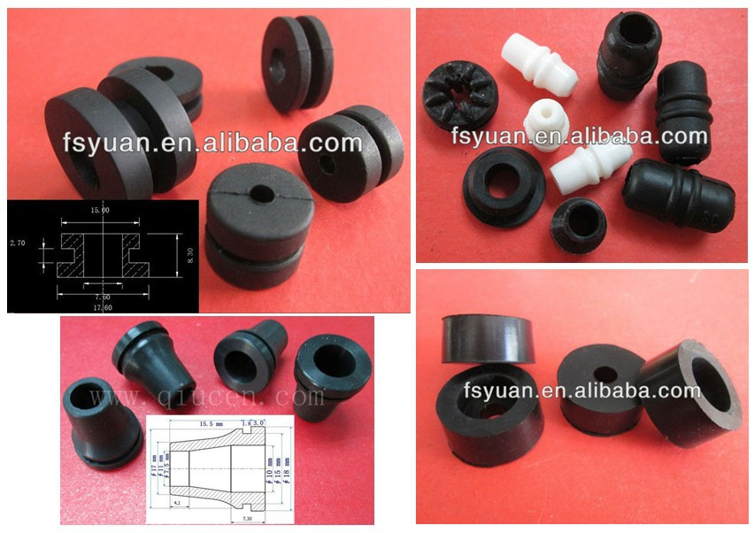 Molded Silicone Tube Grommet / Automotive Cable Harness Car Rubber on
