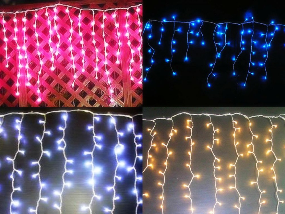 Connectable Led Icicle Light Curtain String Holiday
