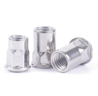 stainless steel m10 half SUS304 hex rivet nut