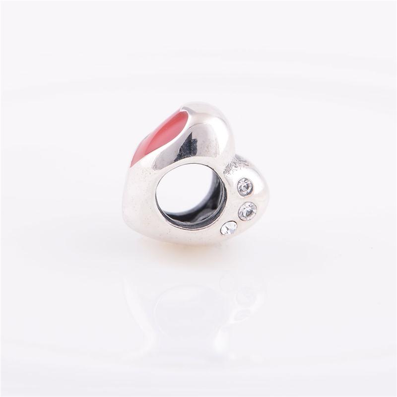 2 шт. / lot женщины браслеты влюбленность эмаль европейский подвески-талисманы совместимый браслеты GW модное ювелирные изделия D024