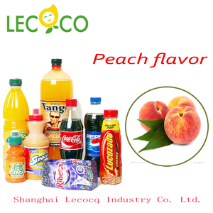 Professional manufacturer fresh peach flavor edible yellow concentrated