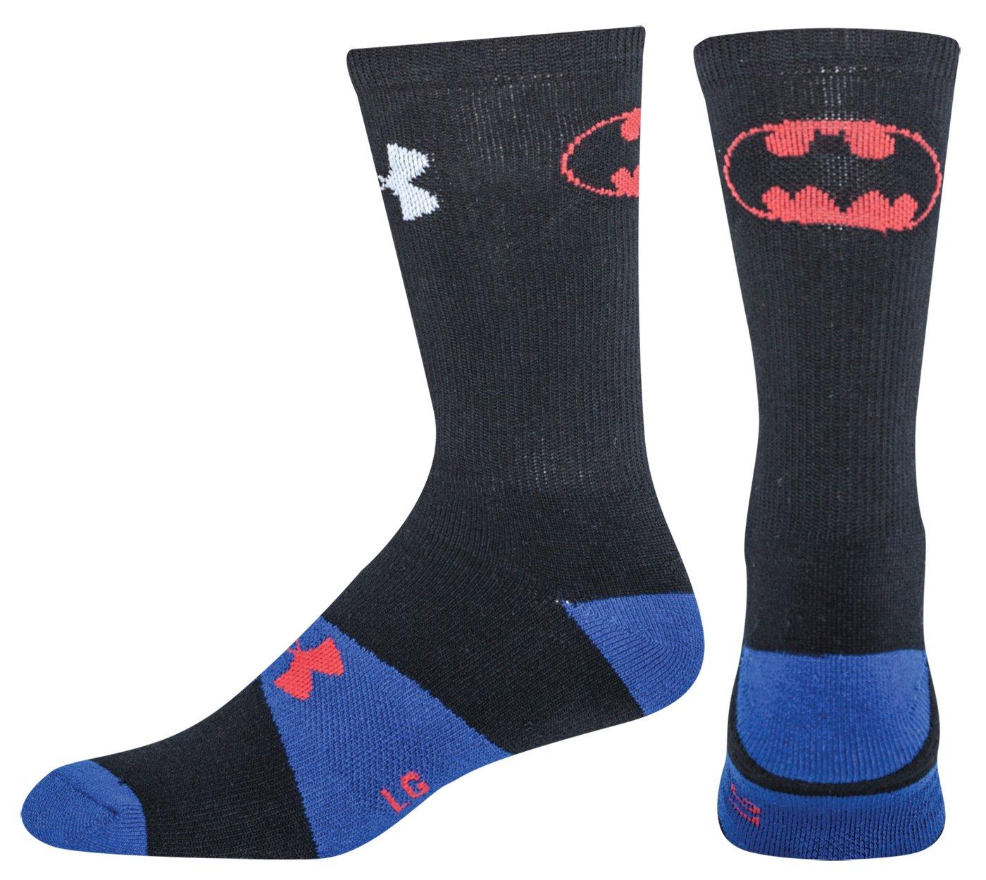 Buy Under Armour Kids Performance Batman Symbol Crew Socks Black