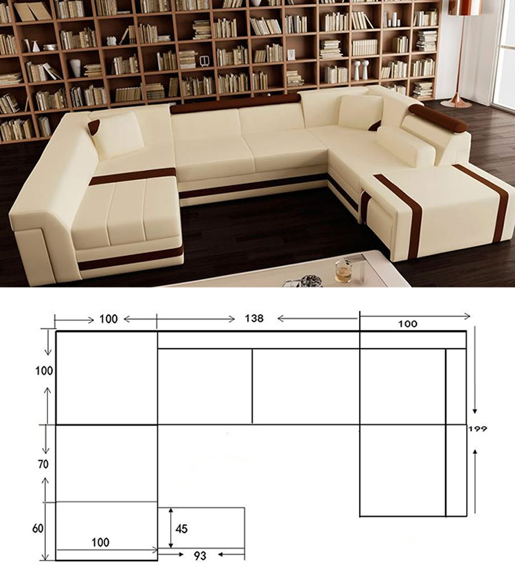 Cheap U Shaped Sofa Low Cost Modern Corner Leather Sofa: U Shape Sofa Extra Large Sofas Sofa Set Designs Modern L