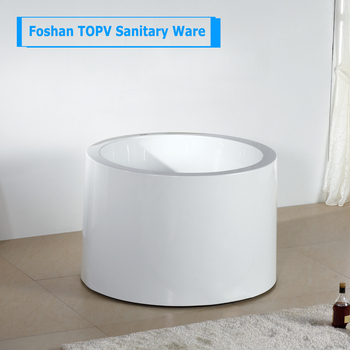 Modern Freestanding Soaking 100cm Very Small Round Bathtubs Sizes For One Person Baths In Bathroom