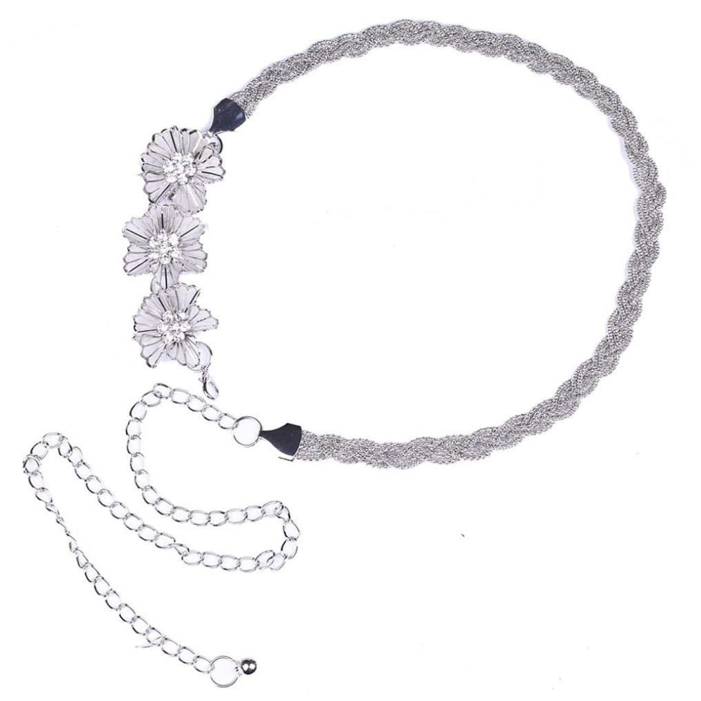 89LOOK-Belt Fashion Womens Metal Chain Dress Belt Decorated Skinny Waist Belt Metal Chain Style Belt Body Chain