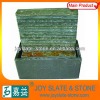 Chinese Slate Desk-top Green Stone Indoor MINI Waterfall Fountain