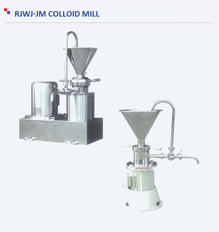 Stable performance corrosion resistant vertical capsule colloid mill