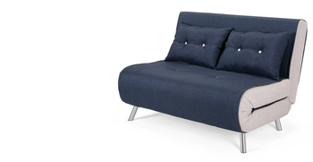 Haru Small Sofa Bed,Quartz Blue 2 Seater Sofas