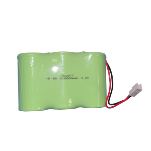 Shenzhen factory supply CE UL certified nickel metal hydride battery D 3.6V 10000mAh nimh battery pack