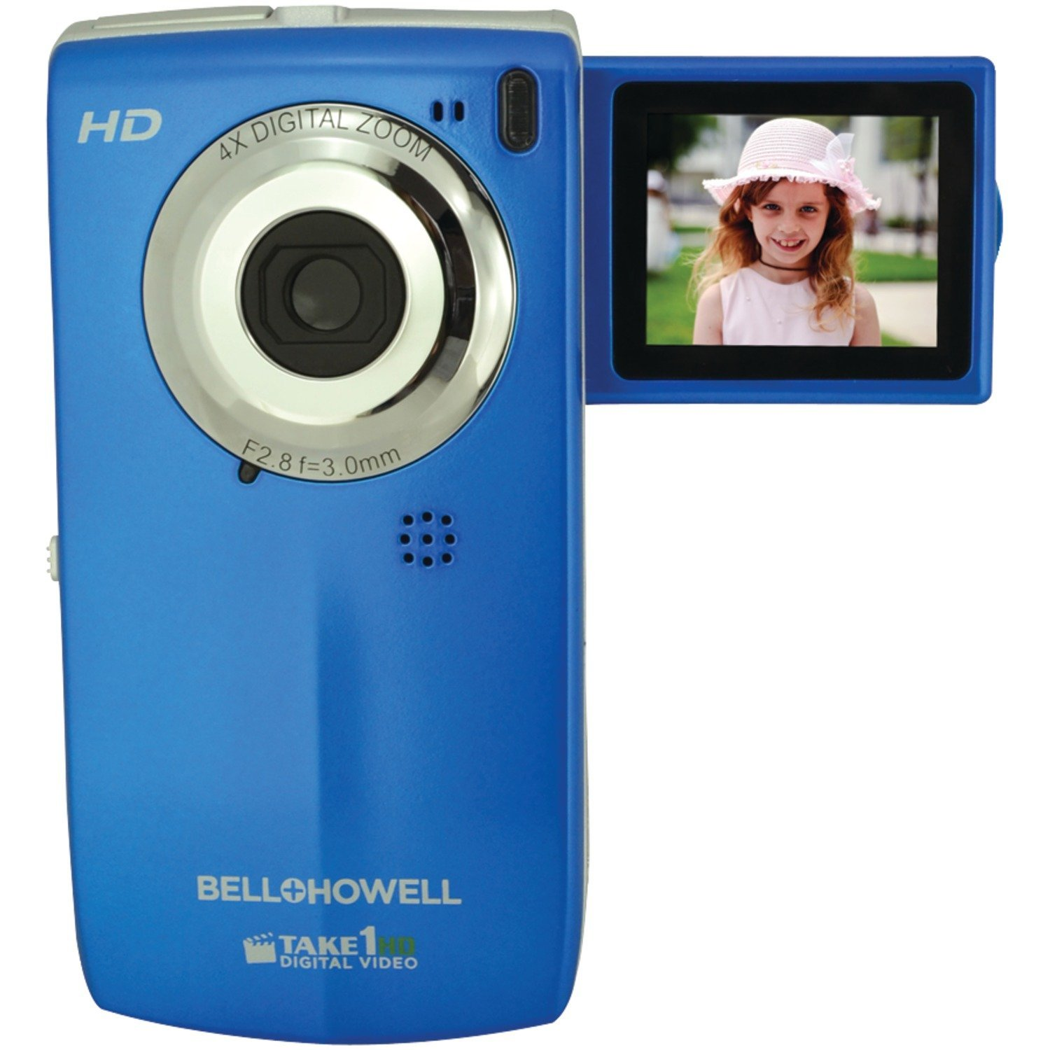 Buy Bell+Howell Take1HD T100HD Blue Camcorder with 4x
