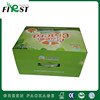 corrugated paper plastic handle gift box for fruit packaging