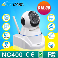Wireless P2P Network IP Camera Pan/Tilt Baby Pet Monitor Wifi Cam Iphone/Android Home Use IP Camera From Shenzhen Rocam