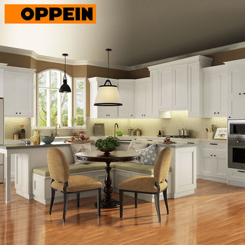 OPPEIN european shaker style kitchen door off white kitchen cabinet