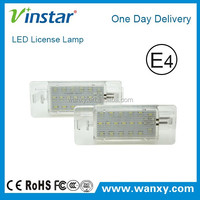 E4 approved car light for Opel Vectra led number plate lamp