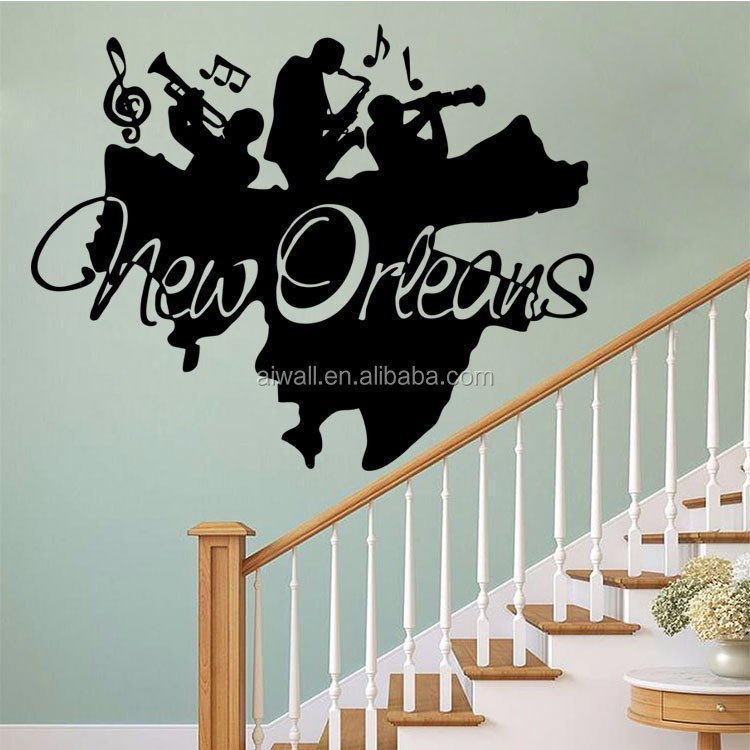 4081 New Orleans Wall Stickers Music Vinyl Art Decals DIY Home Decorative  Famous Singers Star Quote