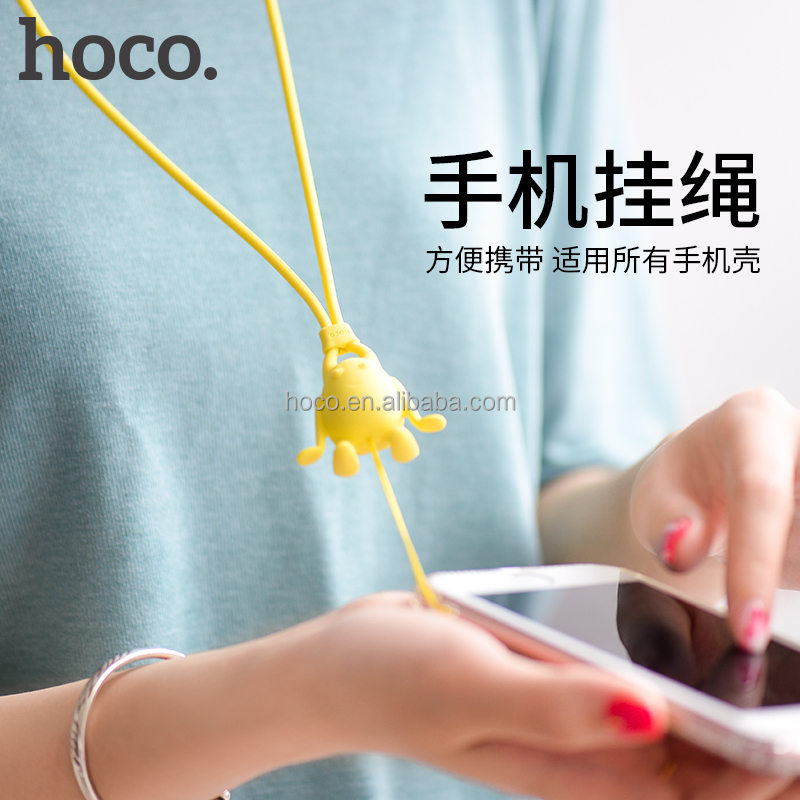 HOCO PH2 mobile phone strap Silicone badges camera smart phon elastic lace tie cute colorful holder