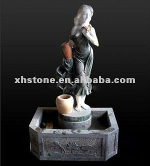 natural marble stone hand carved garden decorative water lady fountains