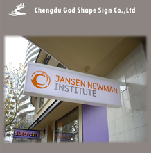 Wall mounted aluminum frame acrylic led sign boards