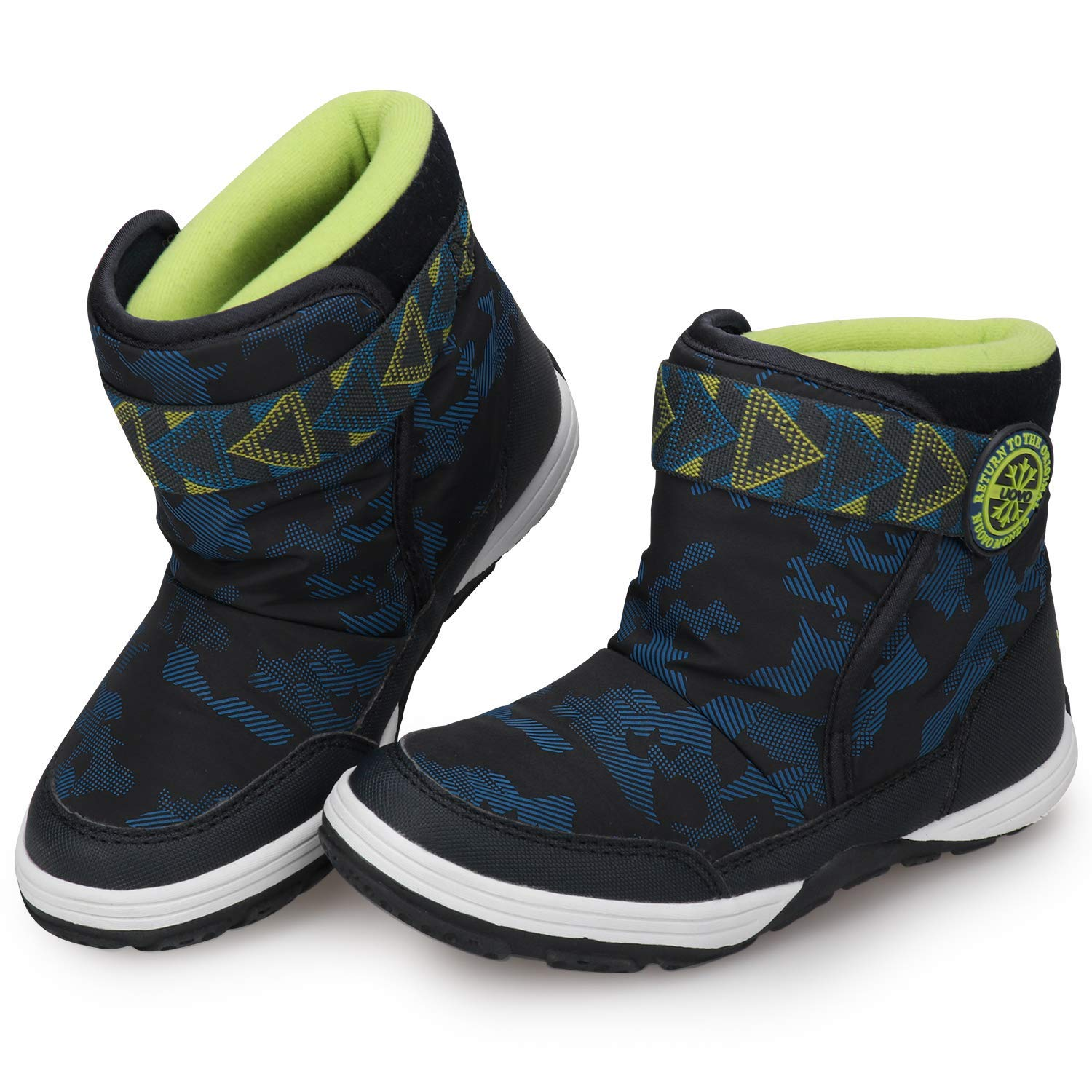 ba303cf9b311 Get Quotations · UOVO Winter Boots for Boys Kids Snow Boots Waterproof Winter  Shoes for Cold Weather Slip Resistant