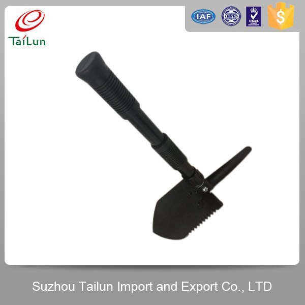 High Quality Plastic Coated A3 Steel Military Folding Snow Shovel