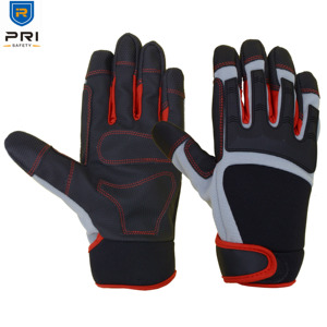 PRISAFETY PU Palm Protective Safety Impact mechanic gloves spandex