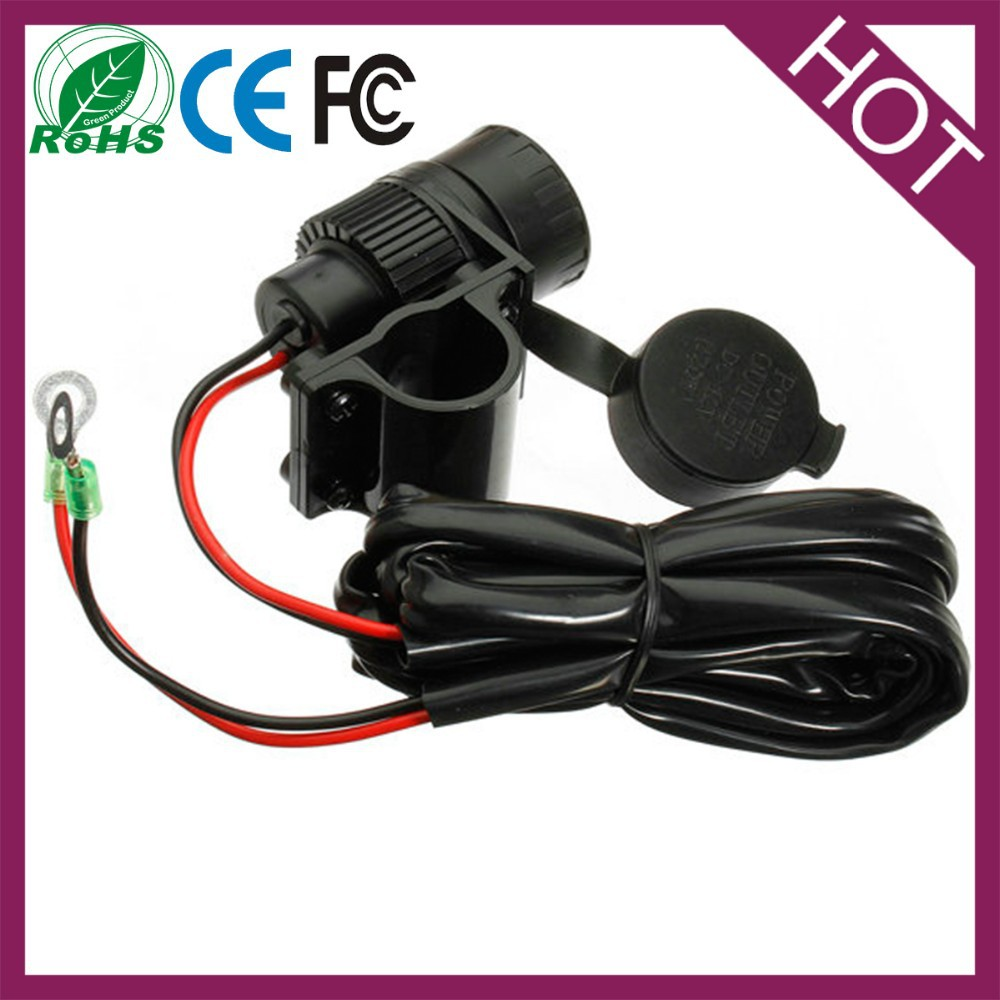 12v Mounted Motorcycle Handlebar Motorbike Trike Mount Cigarette Power Socket
