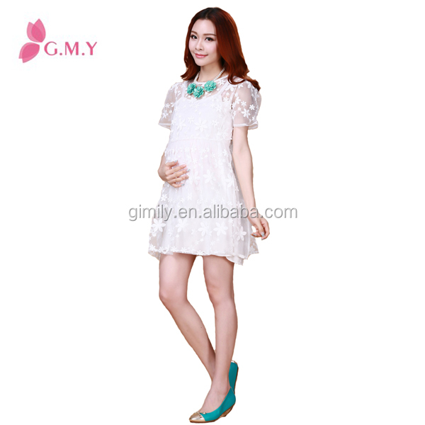 cheap ladies beautiful short white pregnant women dresses