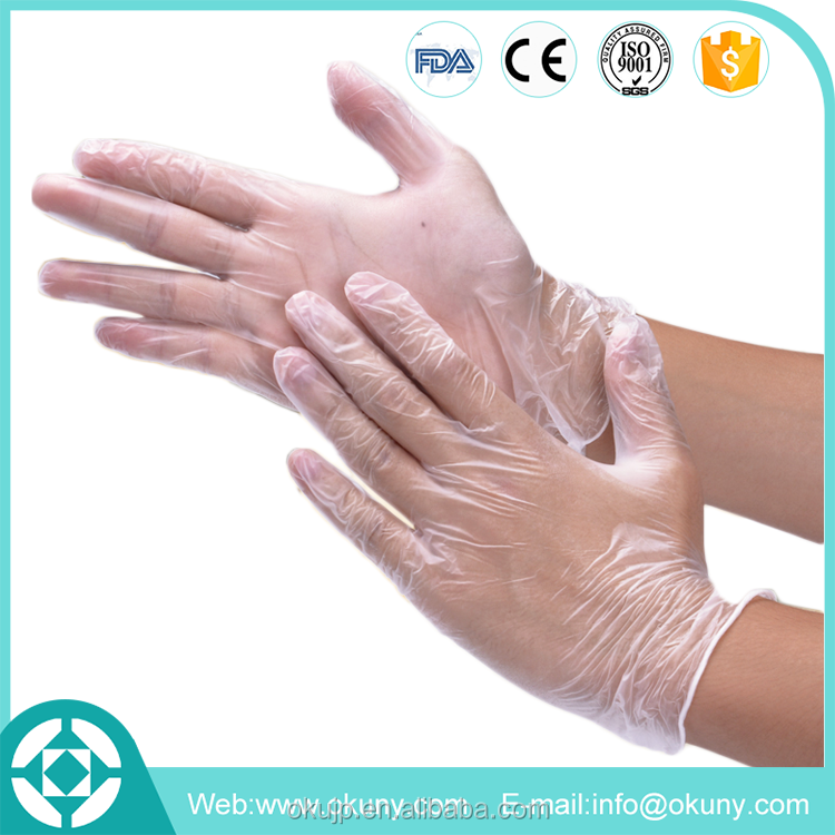 Disposable medical nitrile examination gloves