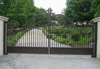 2017 garden/home wrought small iron gate designs simple HL-I-G-227