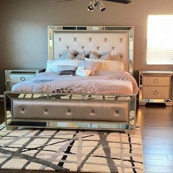 China Factory Price Mirrored Queen Size Bedroom Set Furntiure Buy