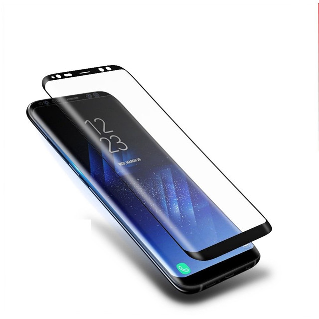 Fast delivery & nice ราคา 3d full cover screen protector กระจกนิรภัยสำหรับ galaxy s8 plus สำหรับ samsung s8 plus