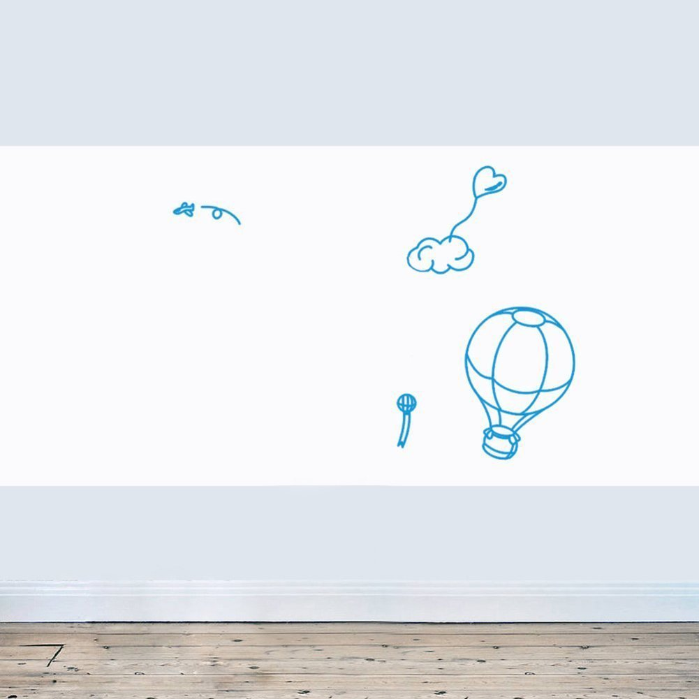 "Huge Self-Adhesive Wall Whiteboard Decal Sticker Dry Erase Draw Board Peel and Stick Paper Roll Sheet White Board with Free Dry Erase Pen for School Office Home - Dimensions: 17.7"" x 78.7"""
