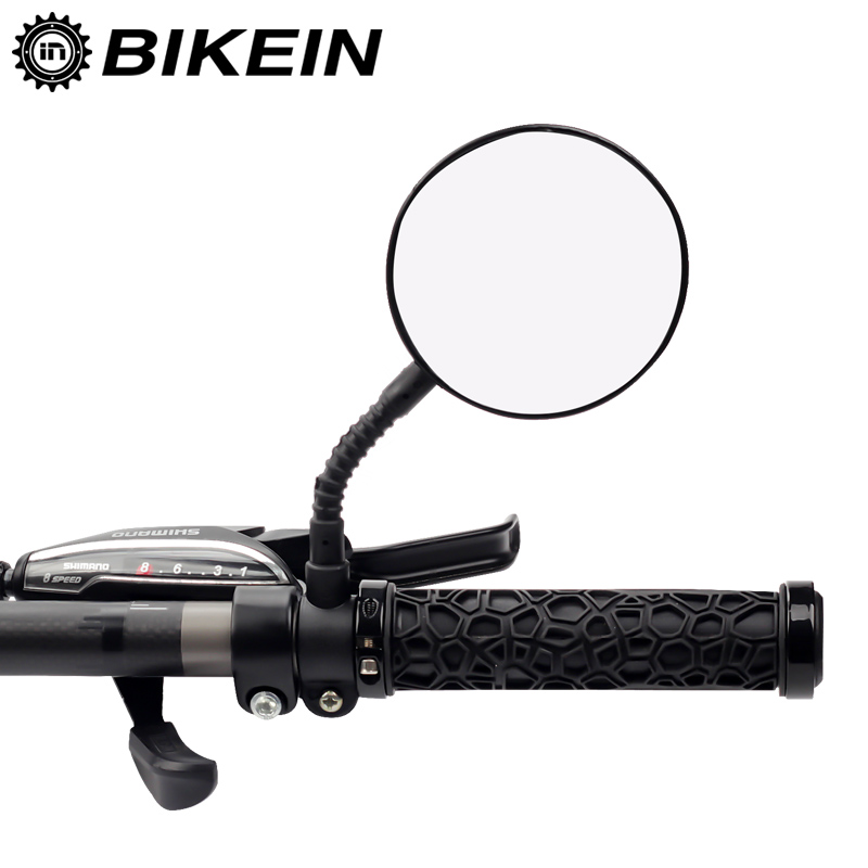 BIKEIN Bicicletta Mountain Bike di Sicurezza Manubrio Rear View Mirror Ruota Bici Da Strada Da Corsa Specchio Riflettente 20-22mm Accessori 40g