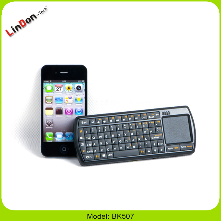 Hot selling 2.4G wireless fly air mouse with bluetooth keyboard Touch Pad for smart TV and Linux System