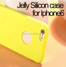Fashion jelly silicone phone6 case for iphone 6 plus ,cheap price mobile phone case