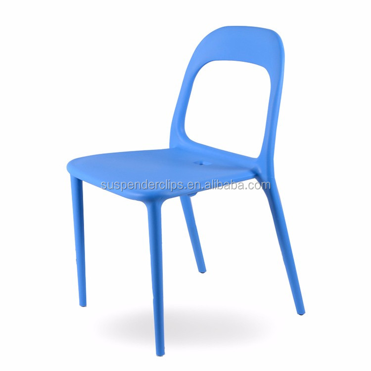 Wholesale Outdoor Furniture Colorful Armless Plastic Cafe