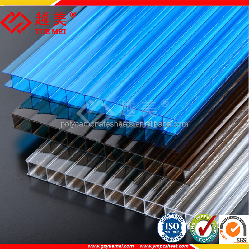 polycarbonate car shed roofing greenhouse solid hollow pc sheet with 100% virgin sabic material with 10 years warranty